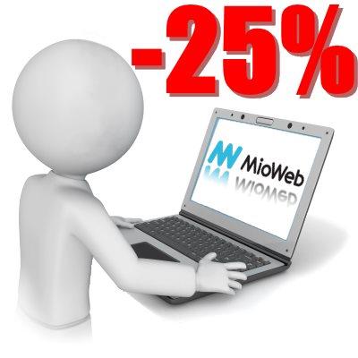 MioWeb sleva 25%
