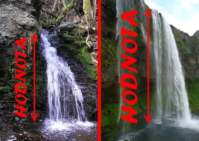 Hodnota bohatství vodopád